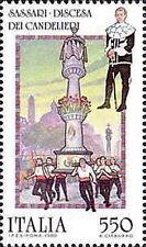 1988 ITALIA FOLCLORE ITALIANO SASSARI CANDELIERI MNH ** - ED