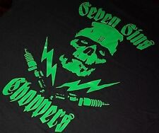 SEVEN SINS CHOPPERS HOUSE ZOMBIE TEE CHOPPER HARLEY TRIUMPH XS650 MOTORCYCLE LRG
