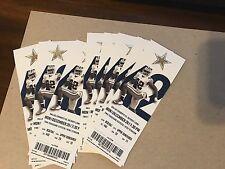 Dallas Cowboys vs Detroit Lions 12/26/16 Unused Ticket - Season Ticket Version