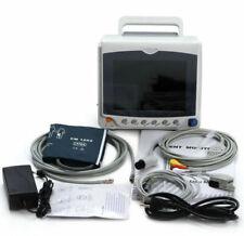 8 Vital Sign Patient Monitor Ecg Nibp Resp Spo2 Pr Temp Contec Cms6000c New