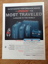 1958 Tri-Taper American Tourister Luggage Ad  Poodle Dog