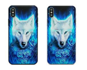 Colourful Electric Wolf Roses IPhone Case 6 7 8 Plus X XS XR 11 12 Pro Max Mini