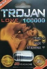 TROJAN LOVE 100000 (6 Pack) Fast Acting Male Sexual Performance Enhancer Pills