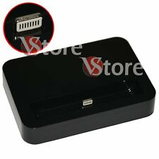Base Dock Basetta Docking Per iPhone 5S 5 iPod 5 CaricaBatteria Da Tavolo Nero