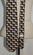 Chopard Tie w Brown / Beige Cupola Print NWOT