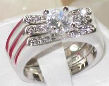 Platinum Plated Cubic Zirconia Engagement Costume Rings