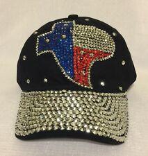 ac84710e71e97 Mapa de Texas Rojo Blanco Azul Mujer Gorra De Béisbol Negro Sombrero Vaquera  Occidental Gitano