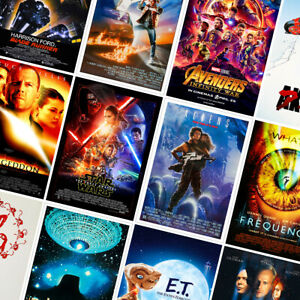 Sci-fi Movie Posters - Classic Prints - A4 A3 A2 - Home Decor Wall Art - part 1