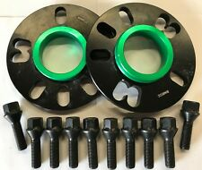 BLACK ALLOY WHEEL SPACERS 10MM 73.1 - 66.6 + M14X1.5 BLACK BOLTS MERCEDES 5X112
