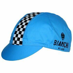 Nalini Bianchi Milano Neon Bicycle Cycle Bike Cap Blue / White