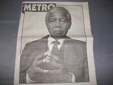 Nelson Mandela Commemorative Edition of Metro Newspaper December 6th 2013