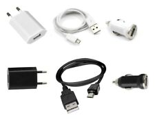 Cargador 3 en 1 (Sector + Coche + Cable USB) ~ Blackberry 9900 Bold Touch