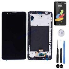 ECRAN LCD + VITRE TACTILE SUR CHASSIS BLOC COMPLET POUR LG STYLUS 2 K520 NOIR