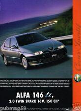 Publicité Advertising 1996 Alfa Romeo Alfa 146 ti