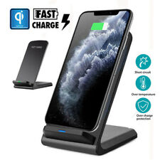 For iPhone 11 Pro Max Xs Xr 8 Wireless Qi Fast Charger Charging Stand Dock Pad