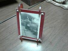 Vintage Picture Frame. Plastic , Bakelite ? Red ?