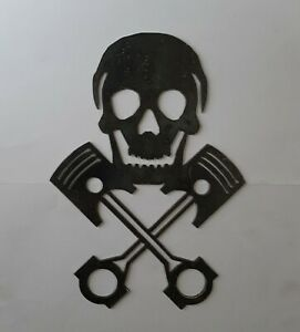 Skull with rods and pistons decoration metal art