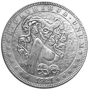 Santa Muerte Novelty V2 Head Tail Good Luck Token Coin US SELLER FAST SHIPPING