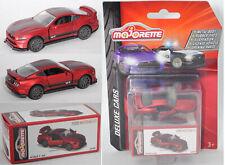 Majorette 212053152 Ford Mustang GT Rotmetallic 1 64 Deluxe Cars