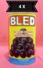 4 dosen OLIVOS Negro Sin Piedra MARRUECOS DELICATESSEN - 4x 4400G - Vegetariano
