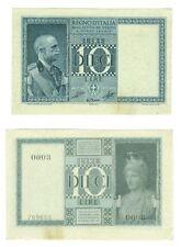 10 LIRE 1939 XVII BIGLIETTO DI STATO VITTORIO EMANUELE III