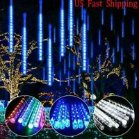 LED Meteor Shower Lights Waterproof Falling Rain Icicle Outdoor Christmas Decor