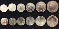 TURKEY SET 6 COINS 1 5 10 25 50 KURUSH 1 LIRA BIMETALLIC 2014-2017 UNC