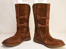 Men's Camel Active Gore-Tex Moc Toe Brown Zip Slip On Boots Size UK 6.5 US 8.5