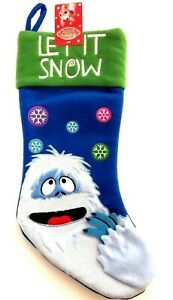 Rudolph the Red Nosed Reindeer Let it Snow Christmas Stocking