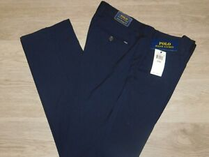 POLO RALPH LAUREN Straight Fit Stretch Pants $98 NWT Navy Blue Choose Your Size
