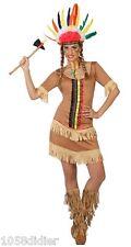 Déguisement Femme Indienne M/L 40/42 Costume Adulte Dessin Animé Indien