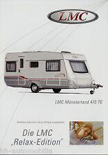 LMC Münsterland 473 TE Prospekt Wohnwagenprospekt Wohnwagen Broschüre
