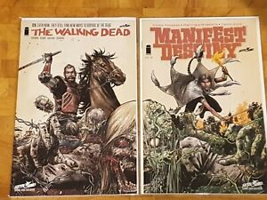 The Walking Dead : 129 & Manifest Destiny Issue 8 - Combo Variant Covers