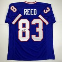 Autographed/Signed ANDRE REED HOF 14 Buffalo Blue Football Jersey PSA/DNA COA
