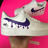 Custom Nike Air Force 1 Shoes White Size 10 10.5 9.5 9 8.5 8 11 11.5 12 13 14 7y