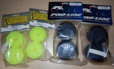 1/10 Trickbits 26mm Yellow Dish Wheel + Proline Street Tyre Set NEW