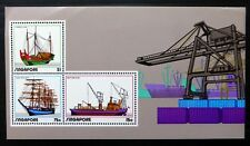 SINGAPORE 1972 Ships M/Sheet MS188 with Crease in Margin (£10 Each) NC223
