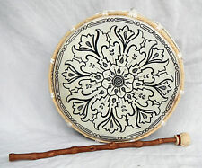 Large Hand Made Bhodran / Shamanic Frame Drum and Beater - 28cm