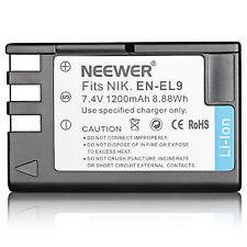 Neewer Replacement Battery for Nikon EN-EL9 EN-EL9A D3X D40 D40x D5000 D60 D3000
