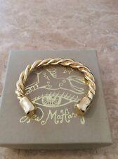Bracelet 18K Yellow Gold Plated Pewter Nib Jes Maharry Harmony Cuff Twisted Rope