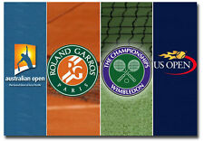 "Grand Slam Tennis Tournaments Logo Fridge Magnet Size 3.5"" x 2.5"