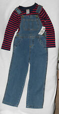 Fisher Price Overall & Shirt Size 4T Nwt Cotton Blend MultiColor Long Sleeve $20