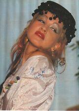 Cyndi Lauper Autogramm signed A4 Magazinbild