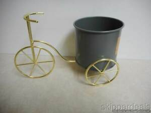 TABLETOP METAL BICYCLE TRICYCLE PLANTER BRAND NEW