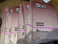 10 Saab 900 Service Manuals 1979 To 1988