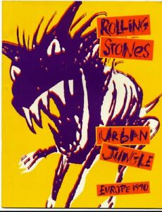 The Rolling Stones Urban Jungle 1990 Tour Programme with inserts