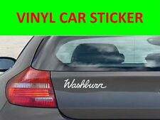 STICKER CAR VINYL WASHBUR WHITE VISIT OUR STORE WITH MANY MORE MODELS TUNNING