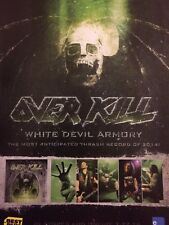 Overkill, White Devil Armory, Full Page Vintage Promotional Ad, Over Kill