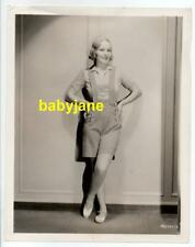 MADGE EVANS ORIGINAL 8X10 PHOTO LEDERHOSEN FASHION 1934 MGM