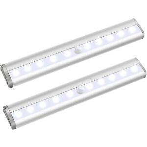 2X LED Unterbauleuchte Schranklampe Nachtlicht mit Bewegungsmelder Sensor Küche